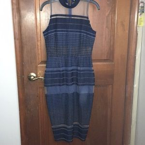Dresses & Skirts - Navy blue dress with stripe cutouts